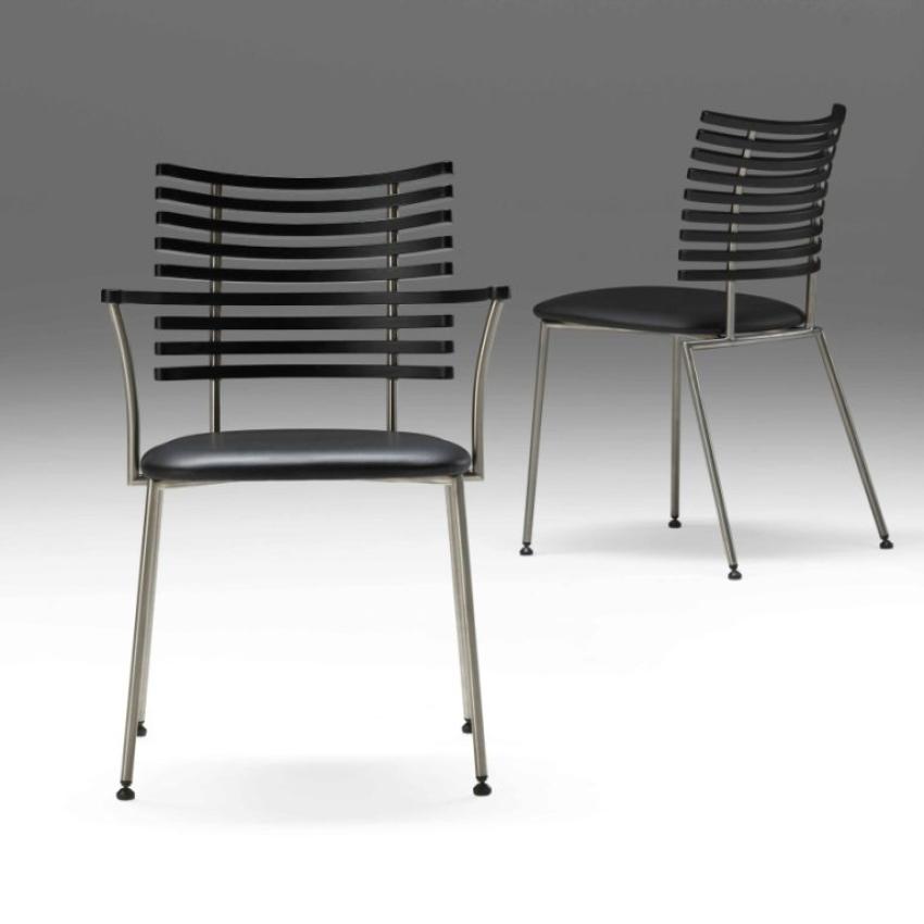 gm 4106 tiger stuhl mit armlehne esche schwarz viking. Black Bedroom Furniture Sets. Home Design Ideas