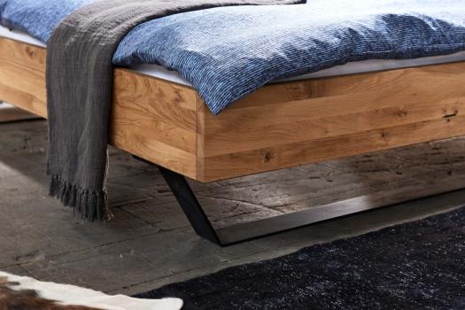 bett modern sleep 180 x 200 cm eiche kufe fuss c m belhaus comodo 5724 d rren sch ihr massivholz. Black Bedroom Furniture Sets. Home Design Ideas