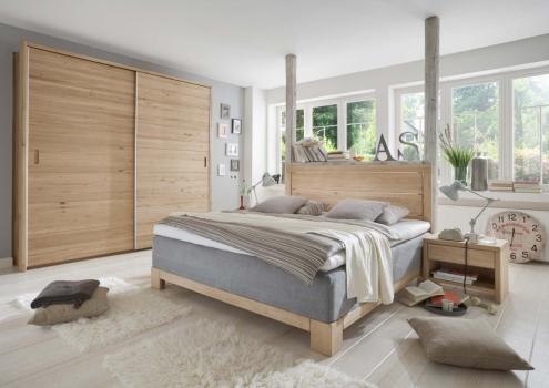boxspringbett aargau comodo bett 180 x 200 cm eiche bianco. Black Bedroom Furniture Sets. Home Design Ideas