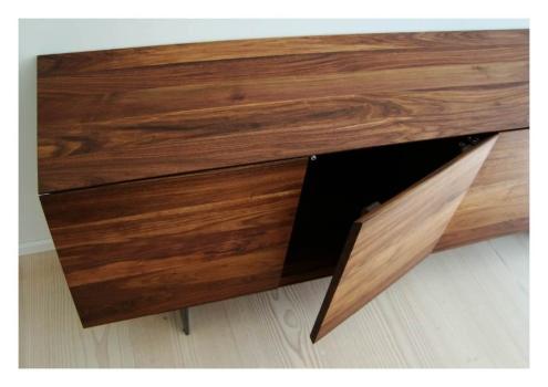 sideboard vitrine m belhaus comodo 5724 d rren sch ihr massivholz fachmann. Black Bedroom Furniture Sets. Home Design Ideas