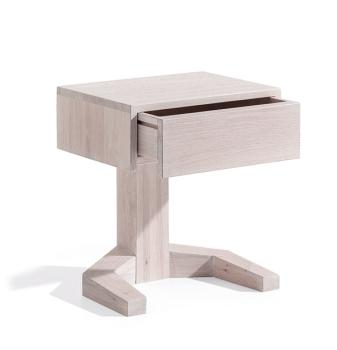 nachttisch gabo eiche weiss m belhaus comodo 5724 d rren sch ihr massivholz fachmann. Black Bedroom Furniture Sets. Home Design Ideas