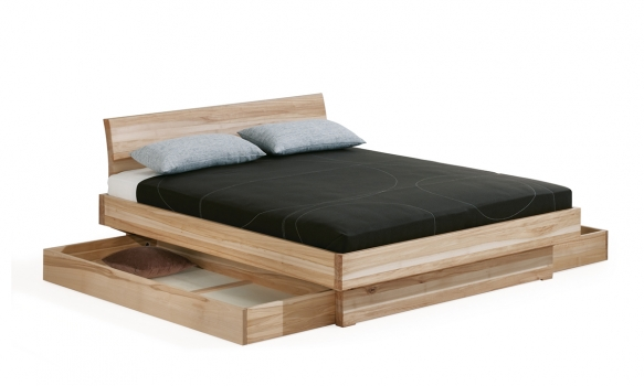 bett morell kasten kopft kernbuche 180x200 cm m belhaus. Black Bedroom Furniture Sets. Home Design Ideas