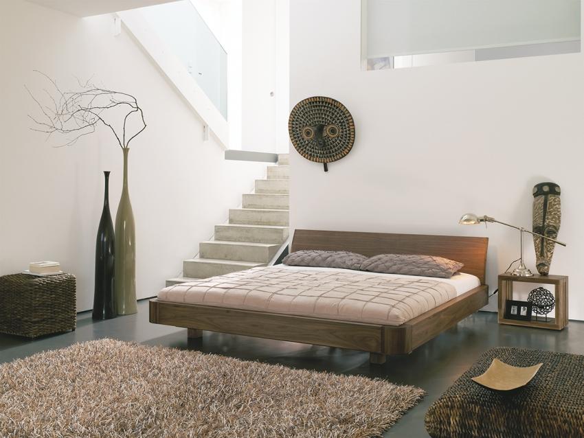 bett mucho mit kopfteil nussbaum 180x200 cm m belhaus comodo 5724 d rren sch ihr massivholz. Black Bedroom Furniture Sets. Home Design Ideas