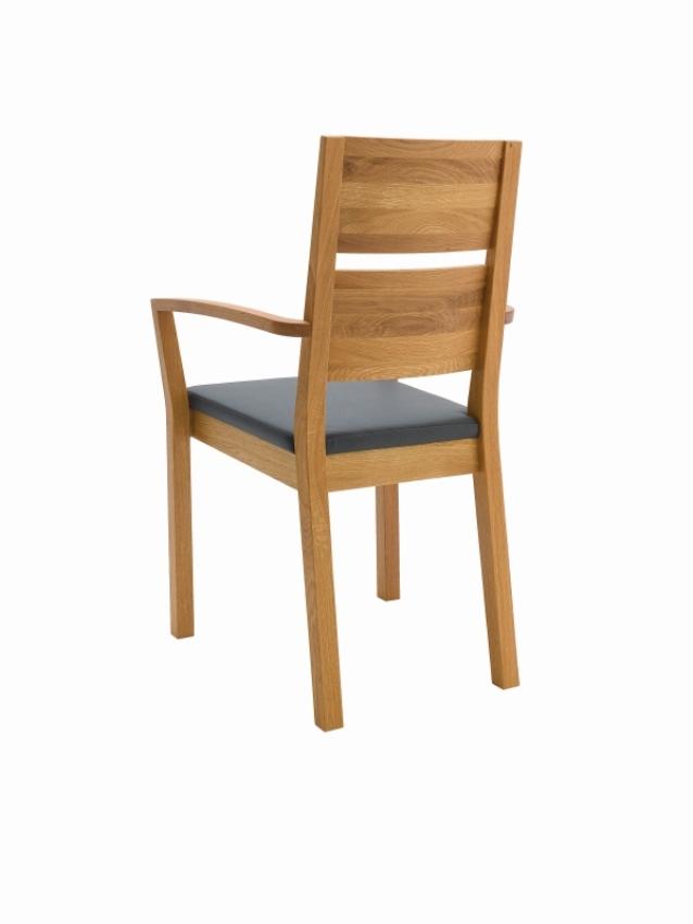 silent 2 stuhl mit armlehne eiche leder m belhaus comodo. Black Bedroom Furniture Sets. Home Design Ideas