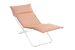 Bayanne Chaise Lounge Kaolin/Ocre